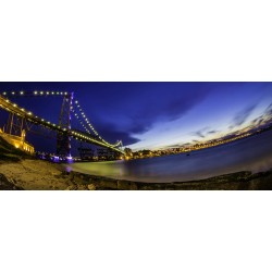 Ponte Hercílio Luz/ Floripa - Panorâmica 30 x 75cm