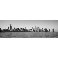 Skyline - Chicago/IL/EUA -  Panorâmica 30 x 100cm