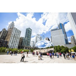 Cloud Gate and Skyline - Chicago/EUA